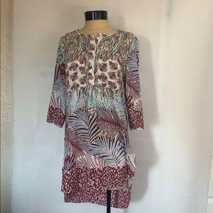 Fig & Flower L/S Pockets Dress Tunic Top Size M